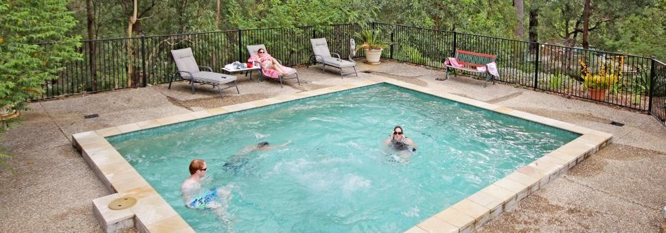 cool off by the pool at Wallaby Ridge